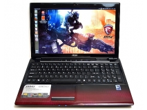 Laptop MSI CR650 LED15.6 Rad 4GB 320GB HDMI Red Kam Notebook